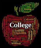 Faculdade palavra indica Academia Naval e academias — Fotografia Stock