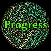 Progress Word Shows Development Improvement And Text — Stock Photo