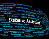 Executive Assistant Means Senior Administrator And Ceo — Stock Photo