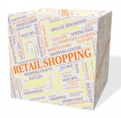 Retail Shopping Indicates Promotion Consumer And Consumerism — Stock Photo