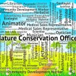 Nature Conservation Officer Indicates Eco Friendly And Administr — Stock Photo #80975874