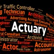 Постер, плакат: Actuary Job Shows Actuarial Science And Cpa