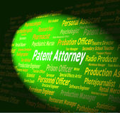 Patent Attorney Shows Legal Adviser And Copyright — Stock Photo