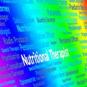 Nutritional Therapist Represents Work Nutriment And Foods — Stock Photo