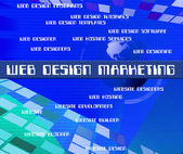 Web Design Marketing Represents Net Www And Designers — Stock Photo