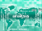 Palavra de análise indica Analytics palavras e analisando — Fotografia Stock