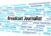 Broadcast Journalist Represents Lobby Correspondent And Broadcas — Stock Photo