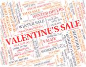 Valentine's Sale Means Valentines Day And Bargains — Stock Photo