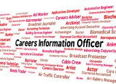 Careers Information Officer Represents Employment Knowledge And — Stock Photo