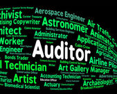 Auditor Job Represents Auditing Word And Inspectors — Stock Photo