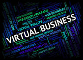 Virtual Business Shows Contract Out And Businesses — Stock Photo