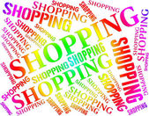 Shopping Word Indicates Commercial Activity And Buying — Stock Photo