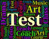 Test Word Indicates Tested Examinations And Assess — Stock Photo
