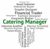 Catering Manager Shows Restaurant Hire And Overseer — Stock Photo