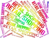 Retail Shopping Represents Commercial Activity And Commerce — Stock Photo