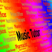 Music Tutor Indicates Sound Track And Acoustic — Stock Photo