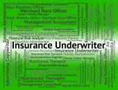 Insurance Underwriter Shows Occupations Protection And Guarantee — Stock Photo