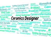 Ceramics Designer Shows Occupation Designed And Text — Stock Photo
