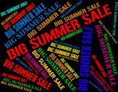 Big Summer Sale Shows Hot Weather And Bargains — Stock Photo