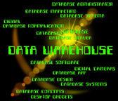 Data Warehouse Indicates Storehouse Depot And Bytes — Stock Photo