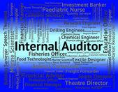 Interner Auditor zeigt Berufe, die Einstellung und Job — Stockfoto