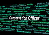 Conservation Officer Means Eco Friendly And Administrator — Stock Photo