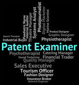 Patent Examiner Means Performing Right And Analyst — Stock Photo