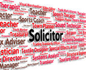Solicitor Job Indicates Legal Practitioner And Barrister — Stock Photo