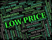 Low Price Shows Reasonably Priced And Reduced — Stock Photo