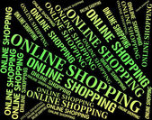 Online Shopping Shows World Wide Web And Commerce — Stock Photo