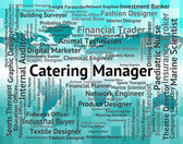 Catering Manager Indicates Overseer Restaurant And Head — Stock Photo