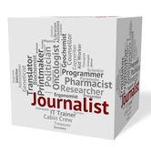 Journalist Job Represents Copy Editor And Correspondents — Stock Photo