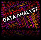 Data Analyst Shows Analysis Analyze And Facts — Stock Photo
