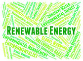 Renewable Energy Represents Power Source And Electricity — Stock Photo