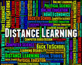 Distance Learning Words Represents Correspondence Course And Dev — Stock Photo