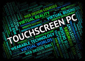 Touchscreen Pc Indicates Personal Computer And Computing — Stock Photo