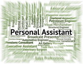 Personal Assistant Means Pa Job And Deputy — Stock Photo