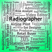 Radiographer Job Shows Career Recruitment And Hiring — Stock Photo