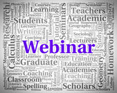Webinar Word Shows Website Education And Learn — Stock Photo