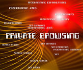 Private Browsing Shows Browsers Confidential And Words — Stock Photo