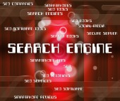 Search Engine Shows Gathering Data And Analyse — Stock Photo