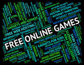 Free Online Games Indicates With Our Compliments And Web — Stock Photo