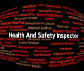 Inspector Word Shows Health Check And Monitor — Stock Photo