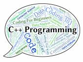 C++ Programming Indicates Software Development And Application — Stock Photo