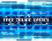 Free Online Games Means With Our Compliments And Web — Stock Photo