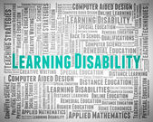 Learning Disability Words Indicates Special Needs And Text — Stock Photo