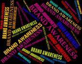 Brand Awareness Indicates Company Identity And Appreciate — Stock Photo