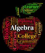 Algebra Word Represents Math Fractions And Words — Stock Photo
