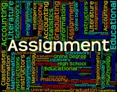 Assignment Word Represents Home Study And Exercises — Stock Photo