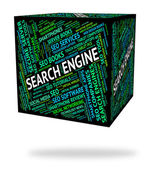 Search Engine Means Gathering Data And Analysis — Stock Photo